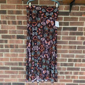 NWT LuLaRoe paisley print maxi skirt